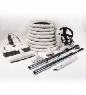 Ensemble boyau 110/24v avec balai électrique commercial et accessoires de luxes