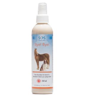 Bye! Bye! Neutralisant d'odeurs d'humidité pour pelage animal
