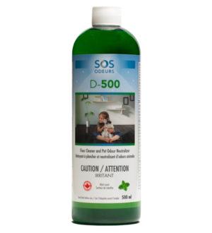 D-500 Nettoyant et neutralisant d'odeurs animale